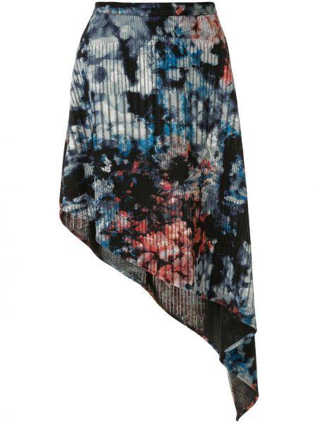 Юбка с завышенной талией - синяя Strateas Carlucci