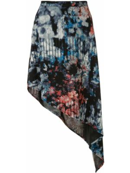 Приталенная синяя юбка Strateas Carlucci
