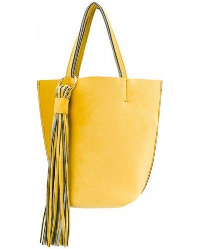 Сумка-тоут с бахромой желтый Alila