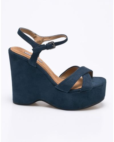 Синие сандалии на танкетке Corina