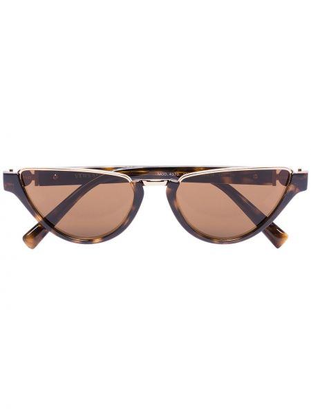 Акриловые прямые солнцезащитные очки хаки с завязками Versace Eyewear