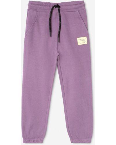 Фиолетовые зауженные брюки Gloria Jeans
