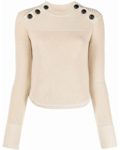 Sweter wełniany - beżowy Isabel Marant