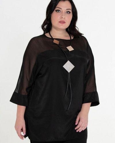 Черная блузка осенняя Intikoma