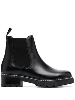 Кожаные черные ботинки на каблуке на каблуке эластичные Carvela
