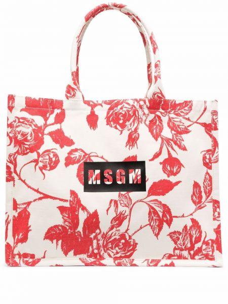 Biała torebka z printem Msgm