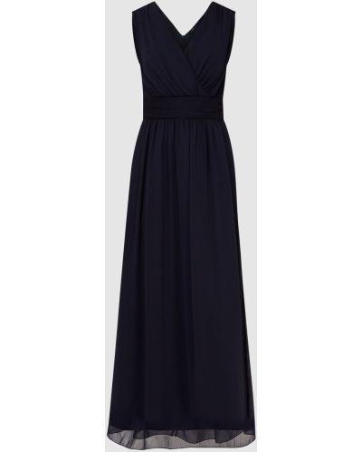 Синее платье с драпировкой Peserico