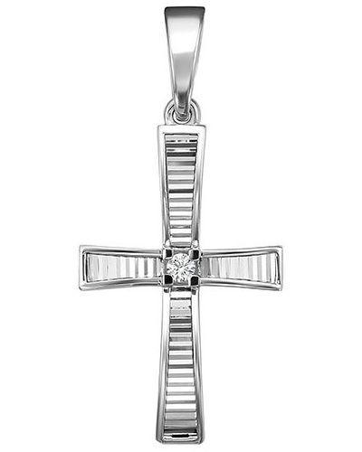 Серебряный крест с бриллиантом Imperial