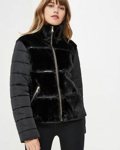 Утепленная куртка демисезонная черная Sisley