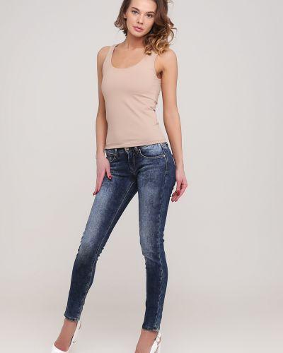 Синие джинсы с карманами Gaudi
