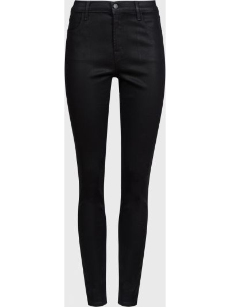 Зауженные черные джинсы-скинни на молнии J Brand