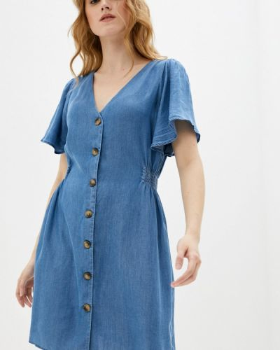 Джинсовое платье - голубое Ichi