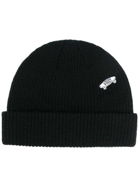 Шерстяная шапка бини - черная Vans