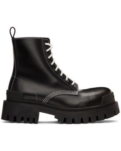 Черные ботинки на каблуке на платформе Balenciaga