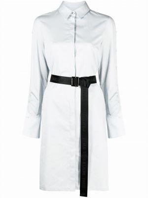 С рукавами синее платье макси из ситца Karl Lagerfeld