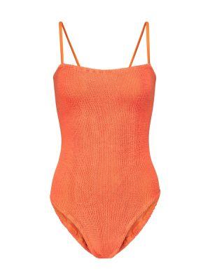 Нейлоновый оранжевый купальник Hunza G