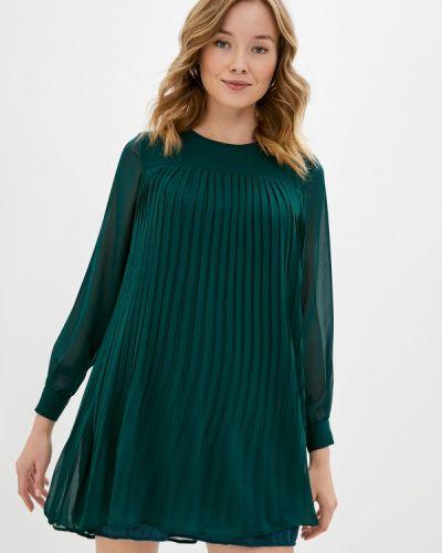 Прямое зеленое платье Trendyol