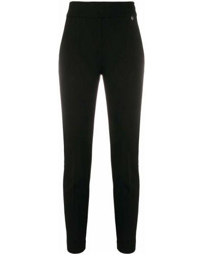 Черные брюки с высокой посадкой из вискозы на молнии Twin-set