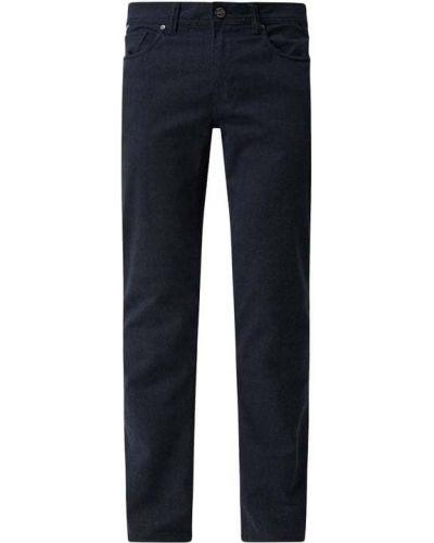 Niebieskie spodnie w kratę Montego