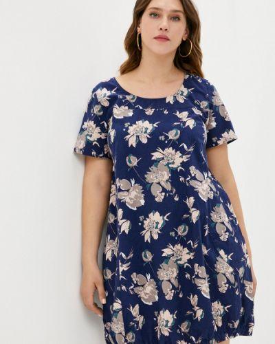 Повседневное синее платье Zizzi