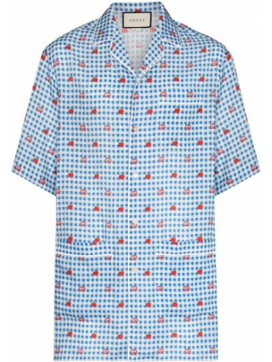 Bielizna niebieski koszula Gucci