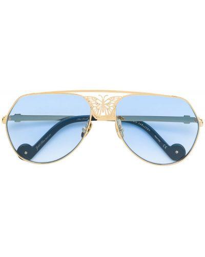 Солнцезащитные очки авиаторы хаки Anna Karin Karlsson