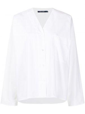 Хлопковая с рукавами белая рубашка Sofie D'hoore