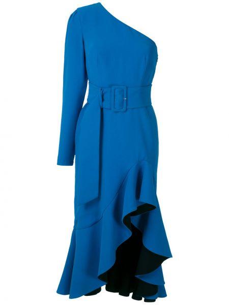 Sukienka midi z długim rękawem niebieskie Reinaldo Lourenço