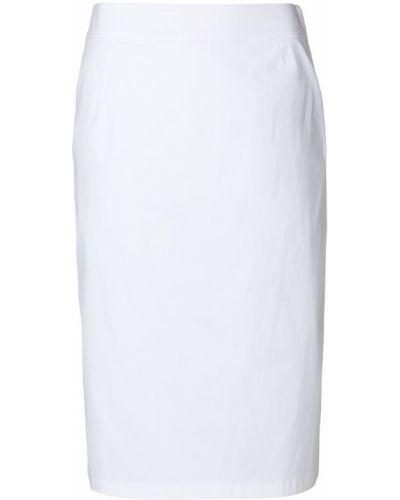 Юбка мини хлопковая приталенная Prada