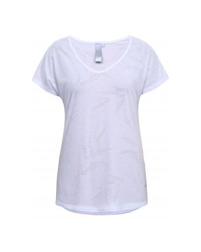 Хлопковая белая футболка с короткими рукавами Luhta
