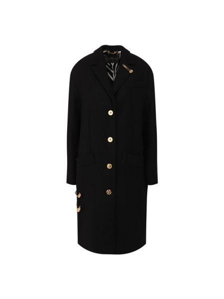 Пальто шерстяное с воротником Versace