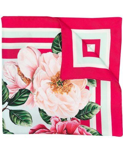 Розовый шелковый платок квадратный Dolce & Gabbana