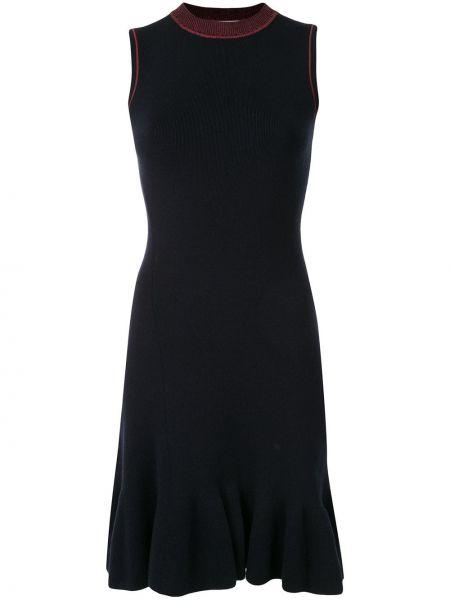 Платье с баской в рубчик Victoria Beckham