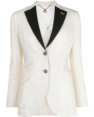 Шерстяной пиджак с карманами на пуговицах с лацканами Maurizio Miri