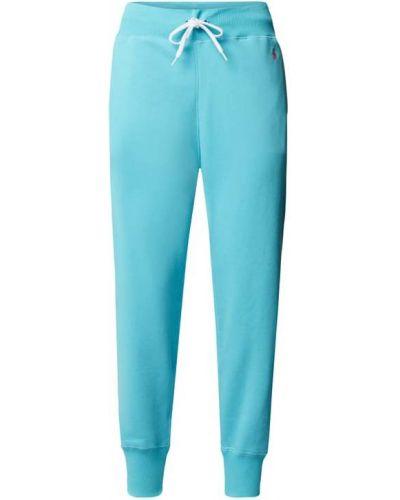 Spodnie dresowe bawełniane - turkusowe Polo Ralph Lauren