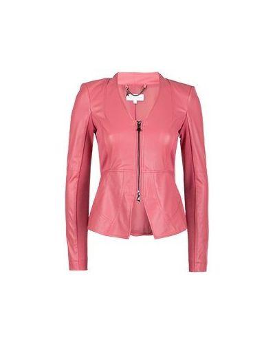 Кожаная куртка розовая Patrizia Pepe