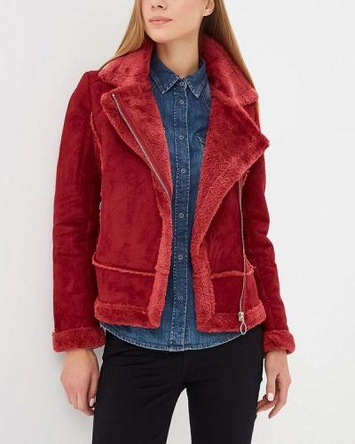 Дубленка красный бордовый Z-design