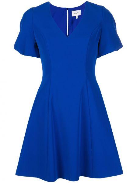 Платье мини с V-образным вырезом на молнии Milly