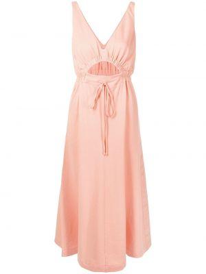 Оранжевое платье миди без рукавов с вырезом Alice Mccall