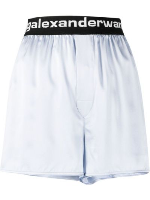 Niebieskie szorty z jedwabiu Alexander Wang