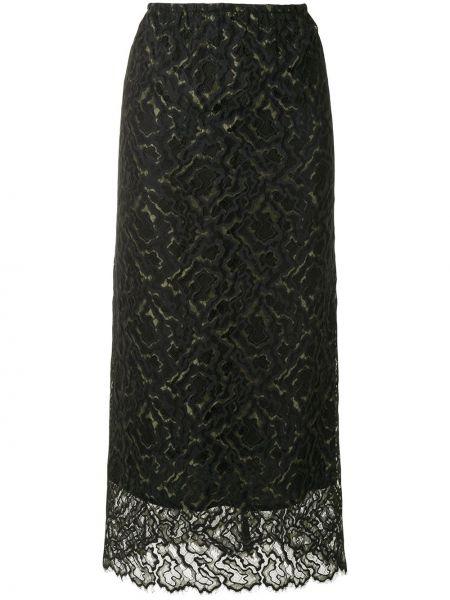 С завышенной талией прямая черная юбка макси Beaufille