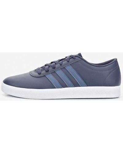 Низкие кеды кожаный синий Adidas
