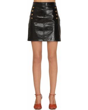 Юбка мини с завышенной талией кожаная Givenchy