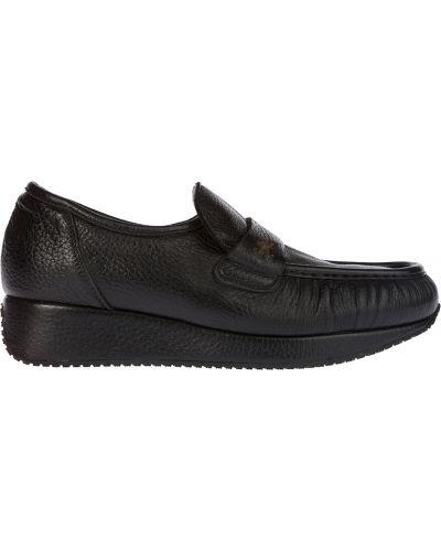 Туфли на танкетке на платформе кожаные Kelton