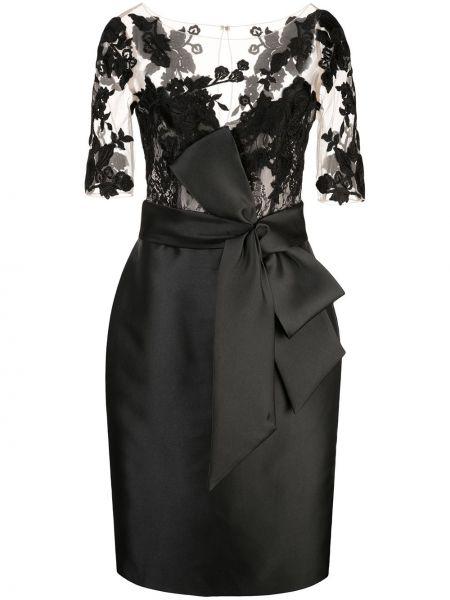 Czarna sukienka z nylonu Badgley Mischka