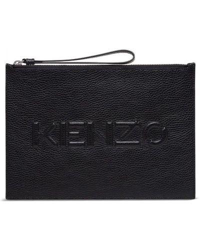 Czarna kopertówka skórzana Kenzo