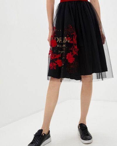 Черная юбка свободного кроя Deha