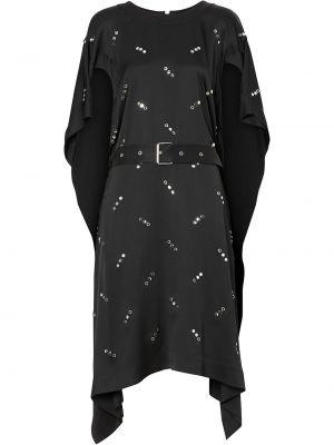 Шелковое платье мини - черное Burberry