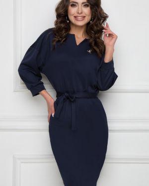 Деловое платье классическое с V-образным вырезом Bellovera