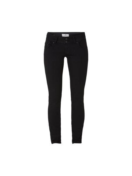 Czarne jeansy zapinane na guziki bawełniane Ltb